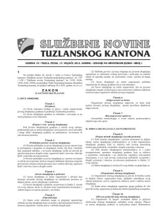 1 Z A K O N - Skupština Tuzlanskog kantona