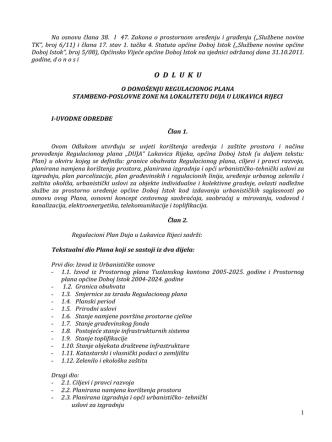287 kB 12th Dec 2013 odluka o donošenju regulacionog plana