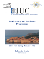Anniversary and Academic Programme