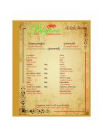 cjenovnik - restoran brajlović