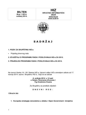 Bilten 2014 - Hrvatski informatički zbor