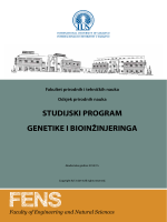 Genetika i bioinžinjering - International University of Sarajevo