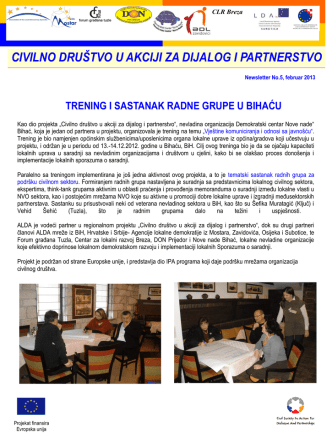 civilno društvo u akciji za dijalog i partnerstvo