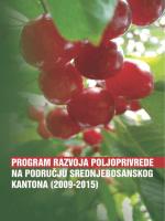 program razvoja poljoprivrede na području srednjebosanskog kantona