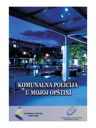 Brošura-Komunalna policija u mojoj opštini