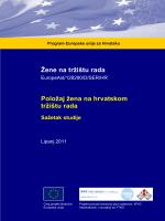 Žene na tržištu rada Položaj žena na hrvatskom tržištu rada