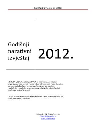 1. kratak pregled aktivnosti u 2012.