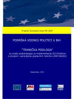 Podstrategija za implementaciju EU direktive o poplavama