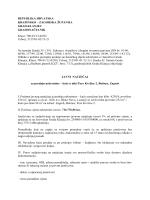 Javni natječaj za prodaju nekretnine- kuće u Zagrebu