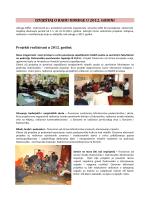Izvjestaj o radu udruge 2012