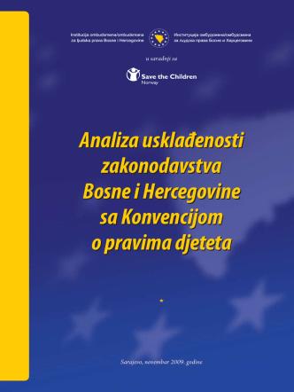 Analiza usklađenosti zakonodavstva BiH sa Konvencijom o pravima