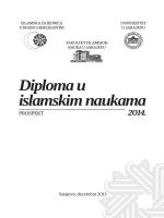 Prospekt DIN.indd - Fakultet islamskih nauka