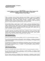 """""""CENTROTRANS-TRANZIT"""" dd Sarajevo XVII SKUPŠTINA DRUŠTVA"""