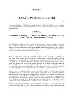 NN 1/14 VLADA REPUBLIKE HRVATSKE
