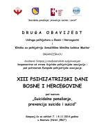 xiii psihijatrijski dani bosne i hercegovine