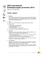 ORC International Srednjeeuropsko prvenstvo 2014 Oglas