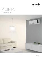 GORENJE klima uređaji - katalog
