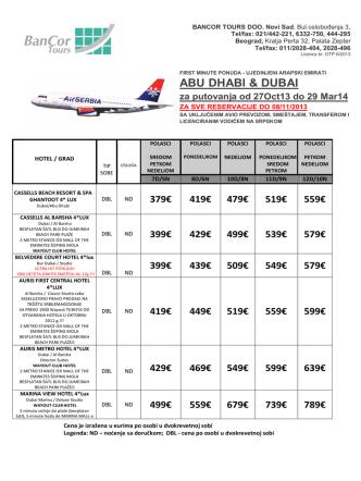 ABU DHABI & DUBAI