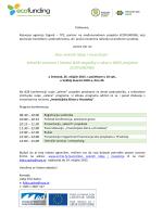 Dan zelenih ideja i investicija - tehnički seminar i lokalni B2B