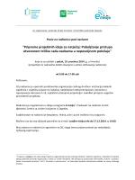 """""""Pripreme projektnih ideja za natječaj: Poboljšanje - E"""