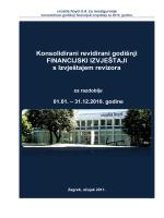 Revidirani konsolidirani godisnji financijski