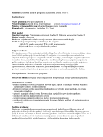Syllabus (detaljni izvedbeni nastavni plan)