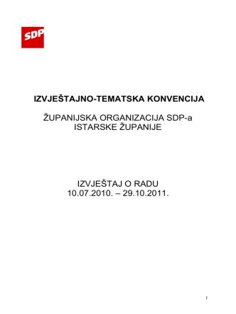 (Izvještaj ZO SDP IZ Denis 2)
