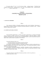 zakon o komunalnim djelatnostima - prednacrt