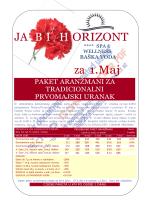 JA B IH ORIZONT za 1.Maj