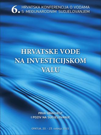6. hrvatska konferencija o vodama - prva obavijest