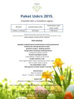 PAKET USKRS 2015 – 2 noćenja