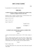 Zakon o državnim maticama NN 76/13