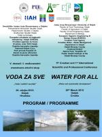 VODA ZA SVE WATER FOR ALL - Zavod za javno zdravstvo