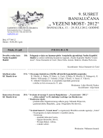 vezeni most program