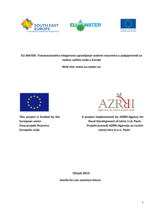 1 EU.WATER: Transnacionalno integrirano upravljanje vodnim