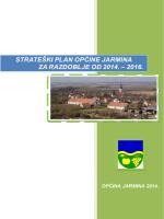 Strateški plan Općine Jarmina za radzoblje od 2014.