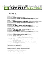 PROGRAM - Jazzfest.ba