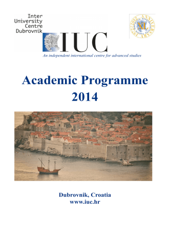 Academic Programme 2014