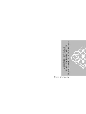 Analitički inventar 1880. - Historijski arhiv Sarajevo