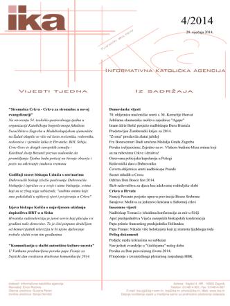 4 - 29.01.2014 - Hrvatska biskupska konferencija