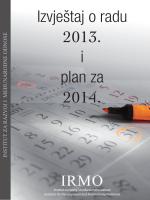 Izvještaj o radu 2013. i plan za 2014.