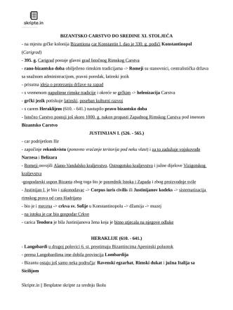 BIZANTSKO CARSTVO DO SREDINE XI. STOLJEĆA
