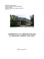 Godišnji plan i program - OŠ IGK