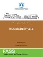 KULTUROLOŠKE STUDIJE - International University of Sarajevo