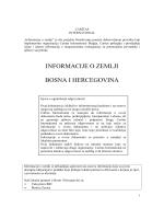 Country Sheet Bosnia