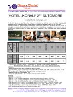 """HOTEL """"KORALI"""" 2** SUTOMORE"""