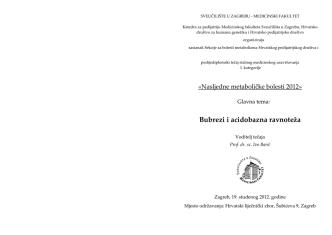Bubrezi i acidobazna ravnoteža - Hrvatsko društvo za humanu