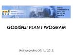 GODIŠNJI PLAN I PROGRAM - Ekonomska i trgovačka škola Čakovec