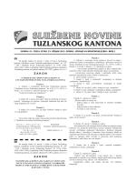 Službene novine Tuzlanskog kantona broj 2