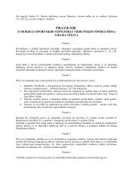 Na temelju članka 43 - Splitski savez športova